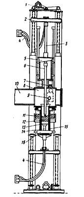 Схема дуговой печи с расходуемым электродом для плавки молибдена и вольфрама